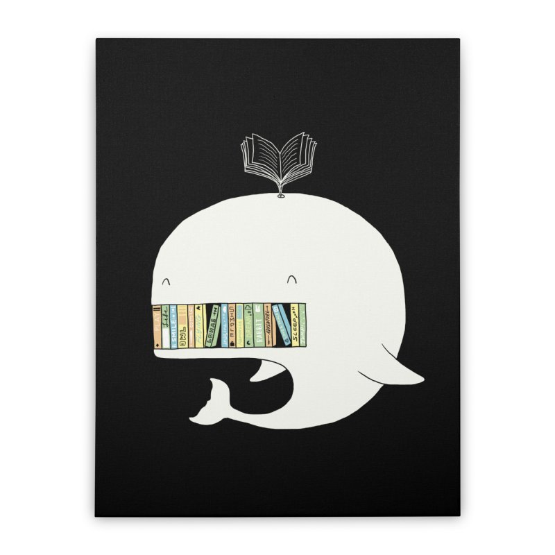 The Whaley Big Bookshelf Home Stretched Canvas by ilovedoodle's Artist Shop
