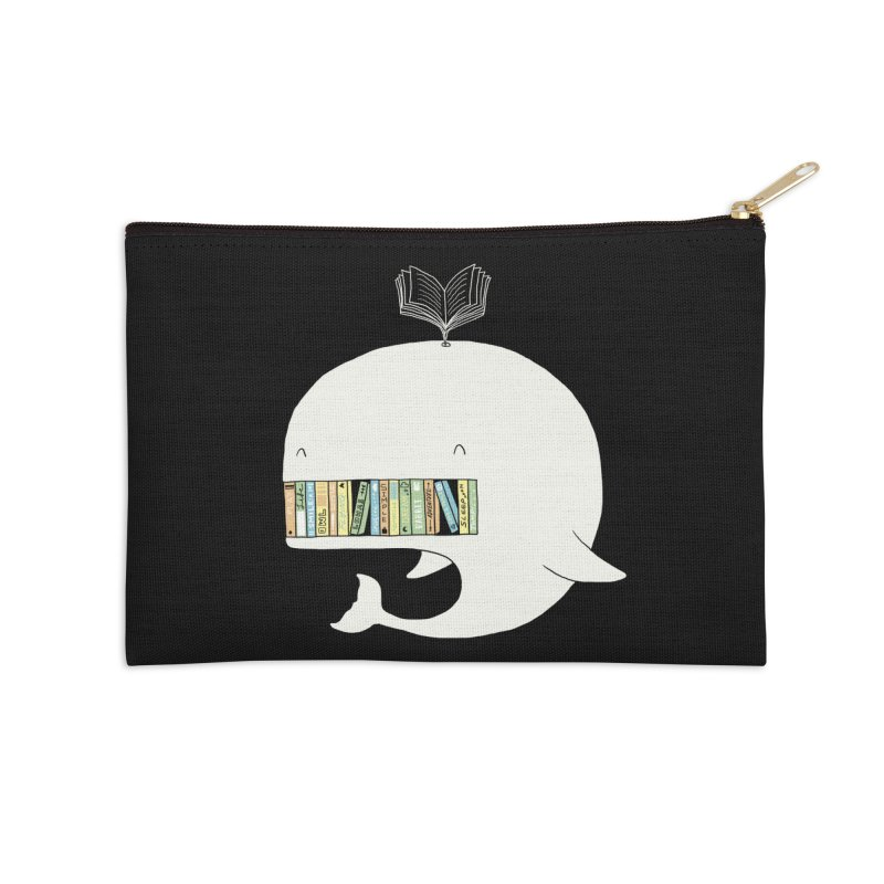 The Whaley Big Bookshelf Accessories Zip Pouch by ilovedoodle's Artist Shop
