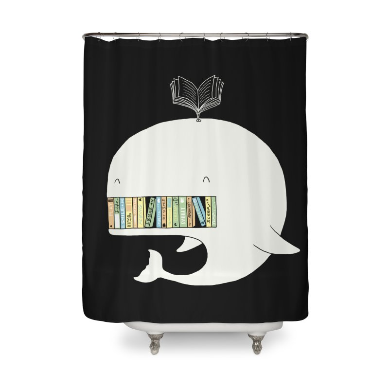The Whaley Big Bookshelf Home Shower Curtain by ilovedoodle's Artist Shop
