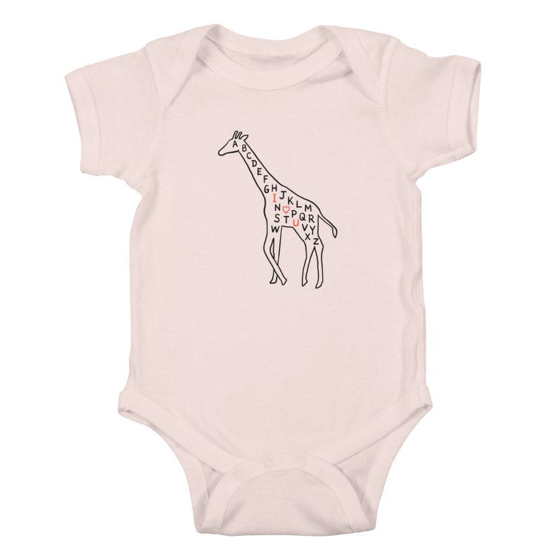 I love you as high as I can reach Kids Baby Bodysuit by ilovedoodle's Artist Shop