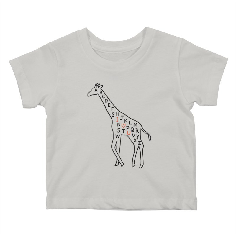 I love you as high as I can reach Kids Baby T-Shirt by ilovedoodle's Artist Shop