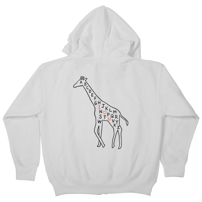 I love you as high as I can reach Kids Zip-Up Hoody by ilovedoodle's Artist Shop