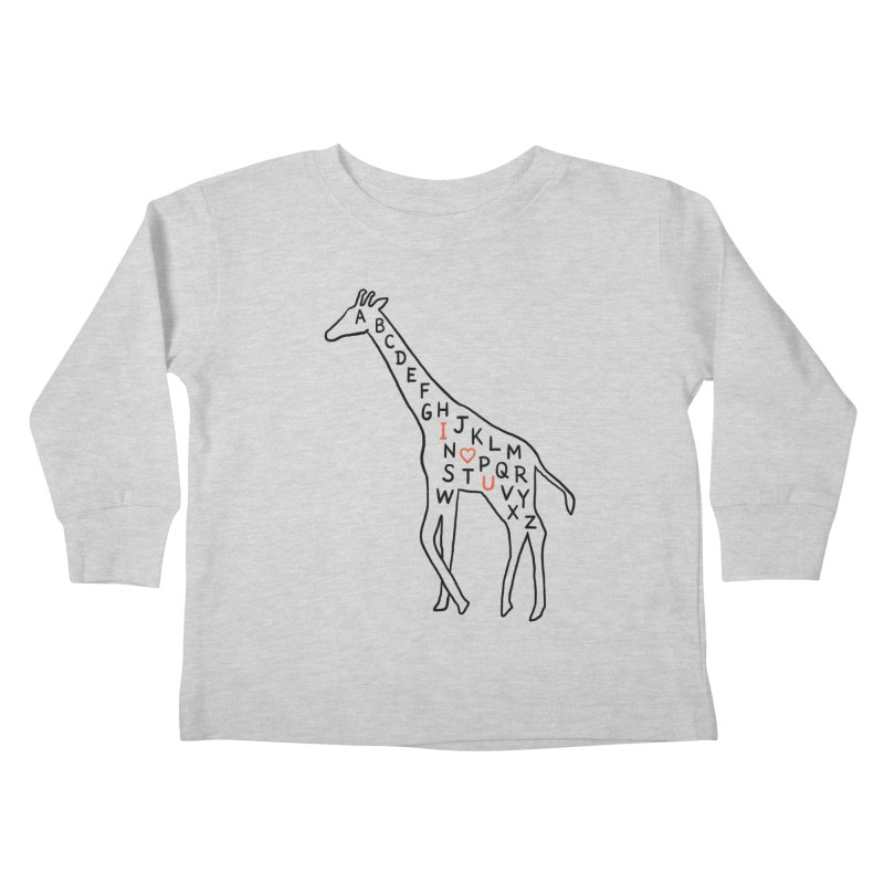 I love you as high as I can reach Kids Toddler Longsleeve T-Shirt by ilovedoodle's Artist Shop