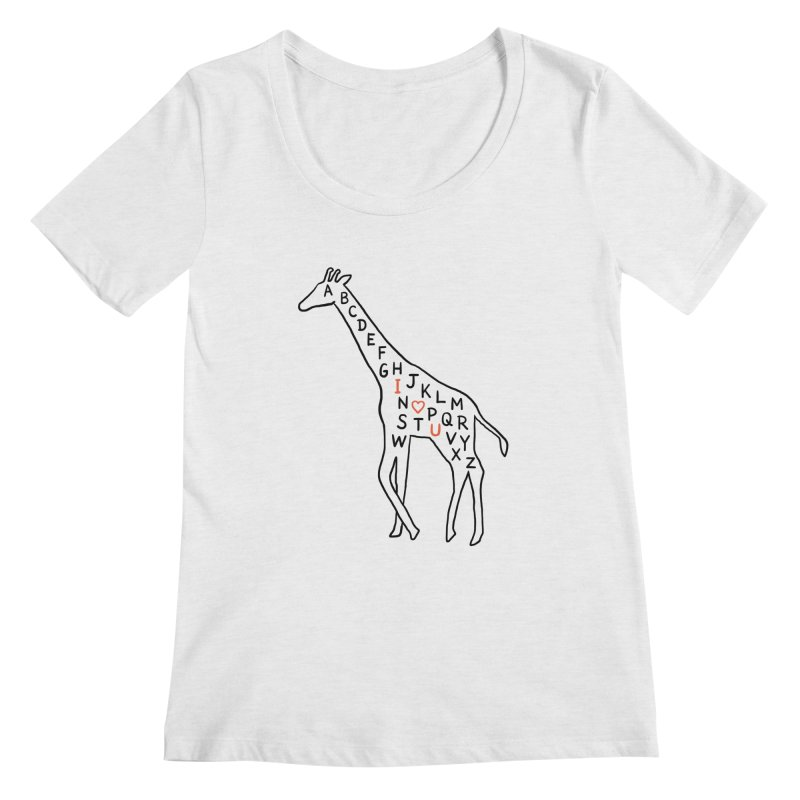 I love you as high as I can reach Women's Scoopneck by ilovedoodle's Artist Shop