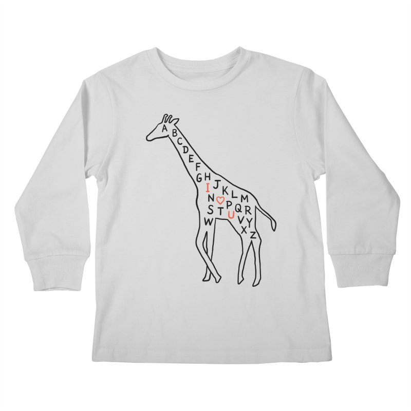 I love you as high as I can reach Kids Longsleeve T-Shirt by ilovedoodle's Artist Shop