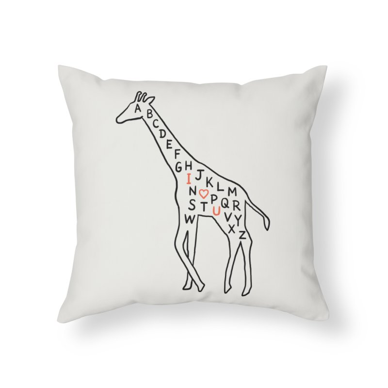 I love you as high as I can reach Home Throw Pillow by ilovedoodle's Artist Shop