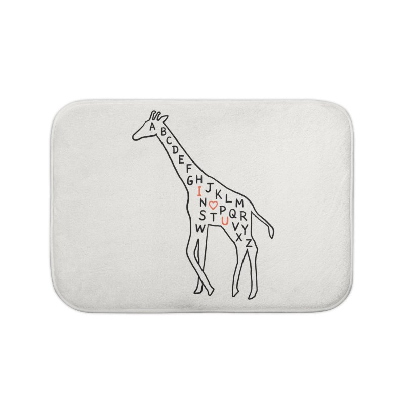 I love you as high as I can reach Home Bath Mat by ilovedoodle's Artist Shop
