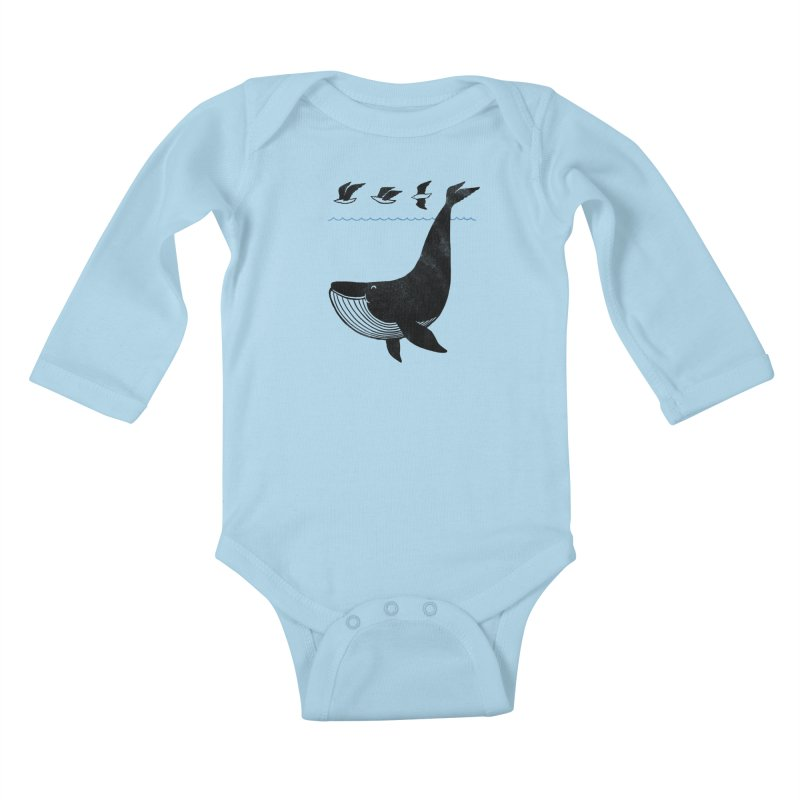 Oh Whale, I'm like a bird Kids Baby Longsleeve Bodysuit by ilovedoodle's Artist Shop