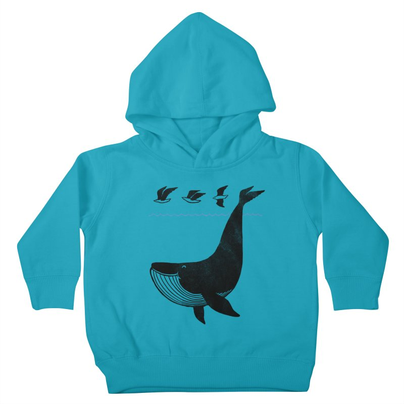 Oh Whale, I'm like a bird Kids Toddler Pullover Hoody by ilovedoodle's Artist Shop