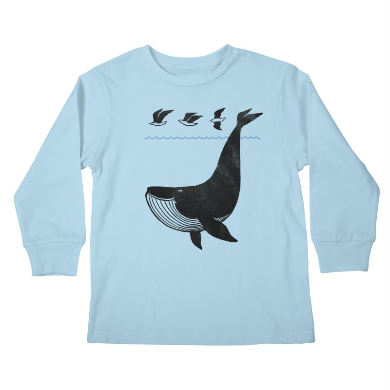 Oh Whale, I'm like a bird Kids Longsleeve T-Shirt by ilovedoodle's Artist Shop