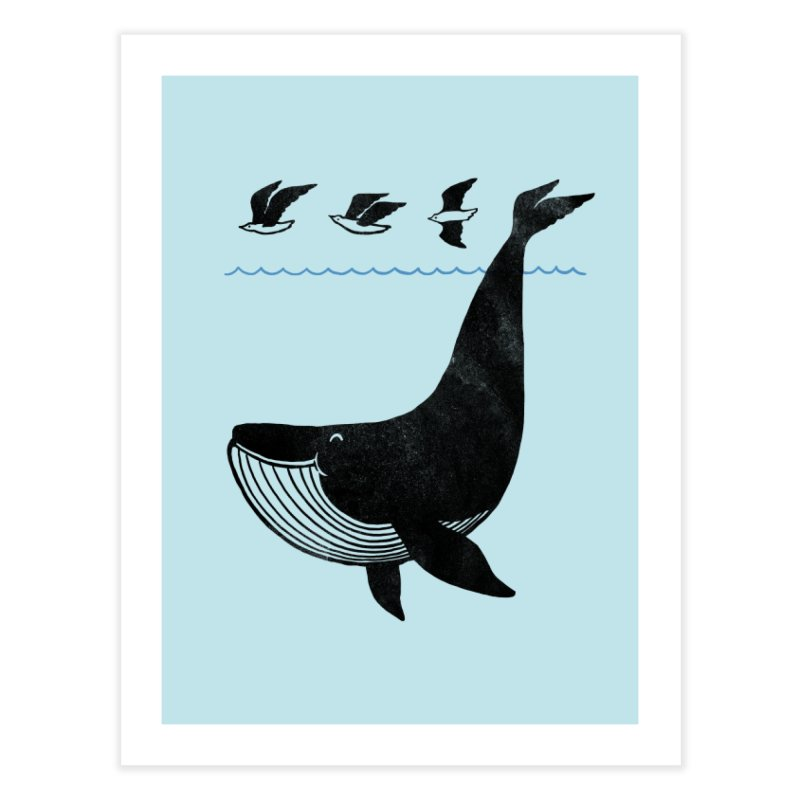 Oh Whale, I'm like a bird Home Fine Art Print by ilovedoodle's Artist Shop
