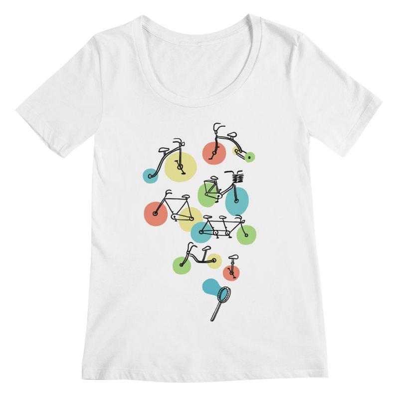 Bubble Riding Women's Scoopneck by ilovedoodle's Artist Shop