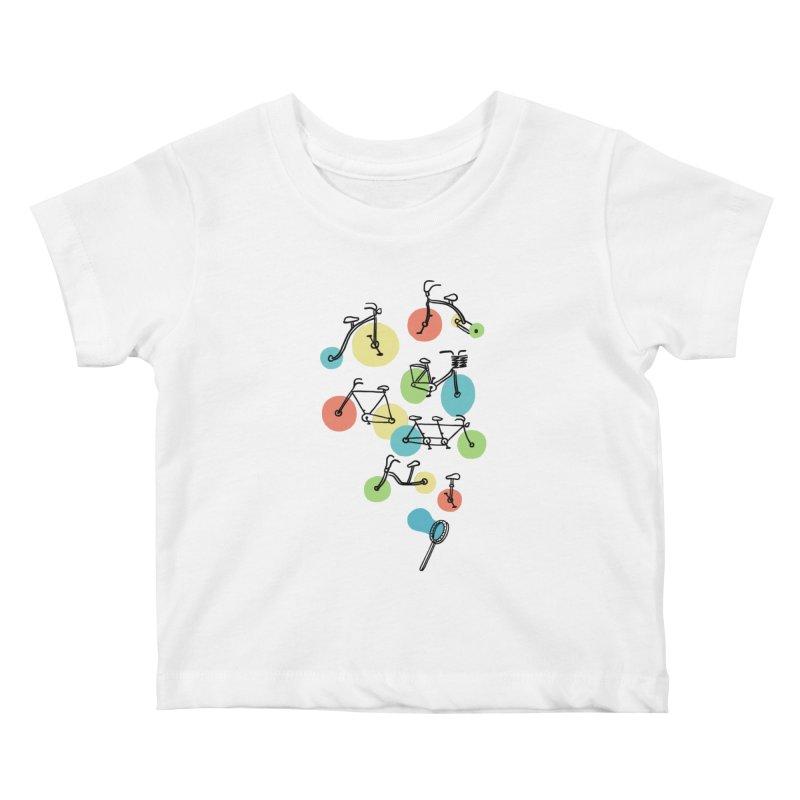 Bubble Riding Kids Baby T-Shirt by ilovedoodle's Artist Shop