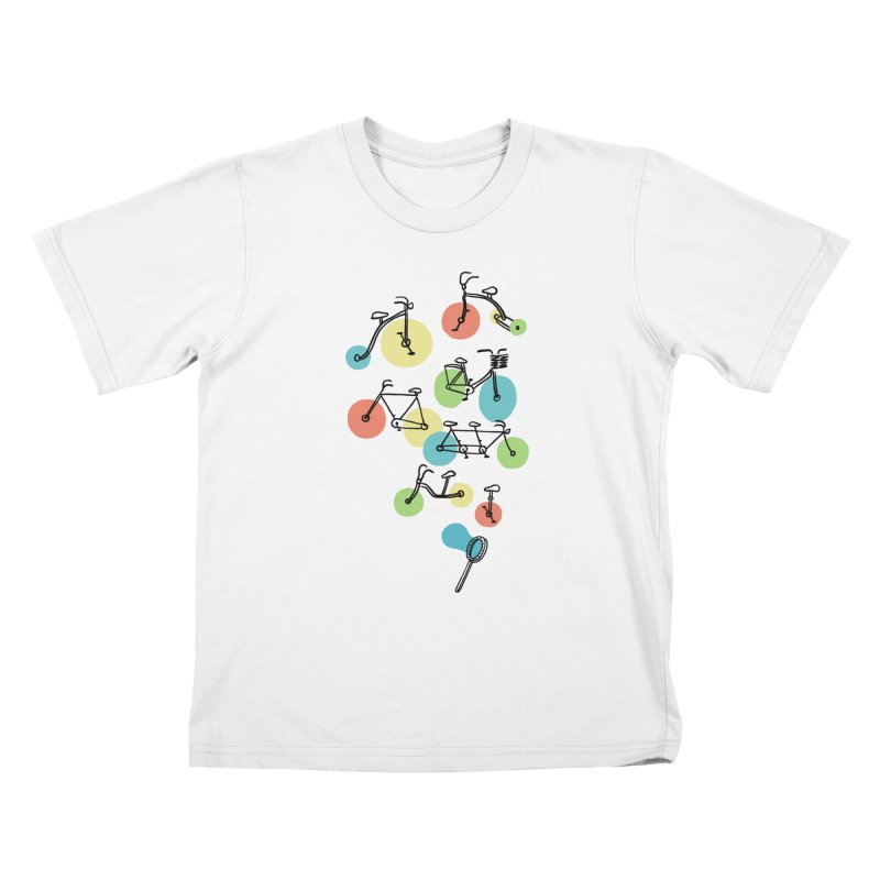 Bubble Riding Kids T-Shirt by ilovedoodle's Artist Shop