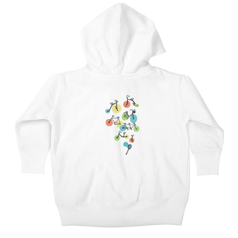 Bubble Riding Kids Baby Zip-Up Hoody by ilovedoodle's Artist Shop