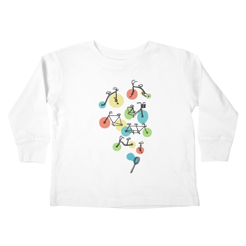 Bubble Riding Kids Toddler Longsleeve T-Shirt by ilovedoodle's Artist Shop