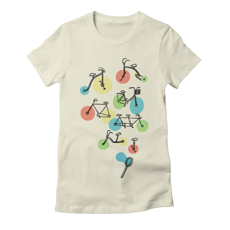 Bubble Riding Women's Fitted T-Shirt by ilovedoodle's Artist Shop