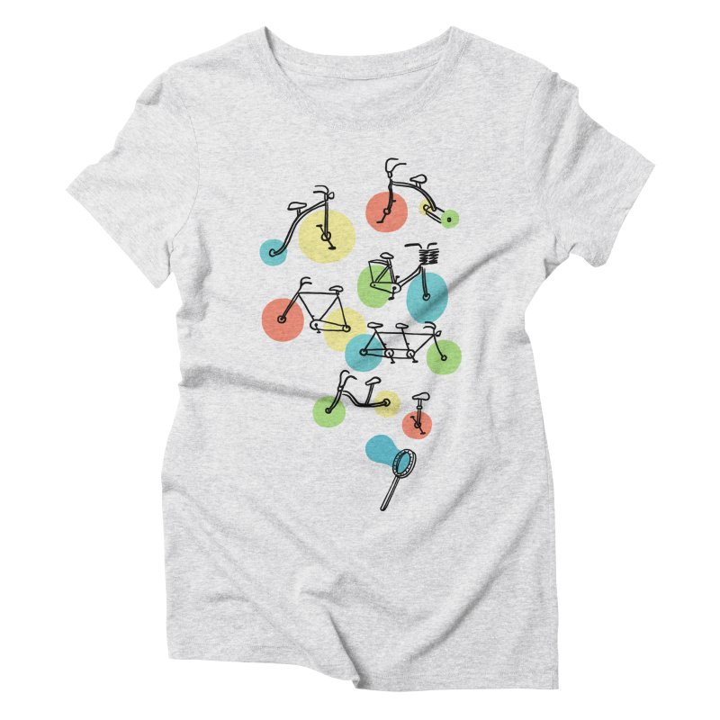 Bubble Riding Women's Triblend T-Shirt by ilovedoodle's Artist Shop