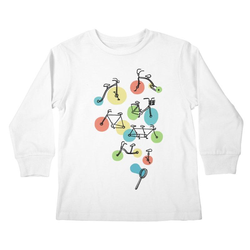 Bubble Riding Kids Longsleeve T-Shirt by ilovedoodle's Artist Shop