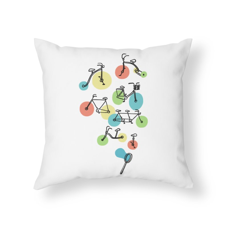 Bubble Riding Home Throw Pillow by ilovedoodle's Artist Shop