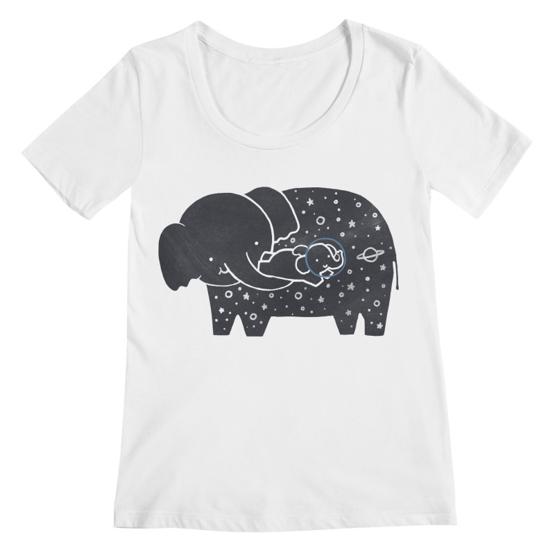 Because you love me Women's Scoopneck by ilovedoodle's Artist Shop