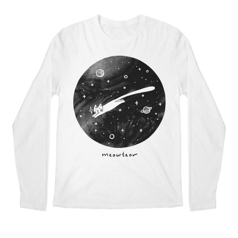 Meowteor Men's Longsleeve T-Shirt by ilovedoodle's Artist Shop