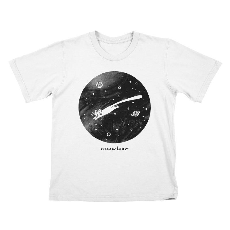 Meowteor Kids T-Shirt by ilovedoodle's Artist Shop