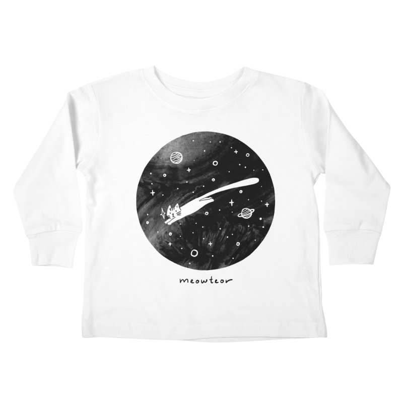 Meowteor Kids Toddler Longsleeve T-Shirt by ilovedoodle's Artist Shop