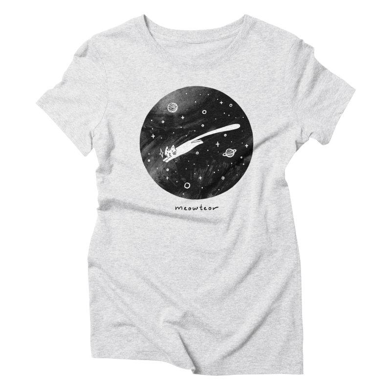 Meowteor Women's Triblend T-Shirt by ilovedoodle's Artist Shop