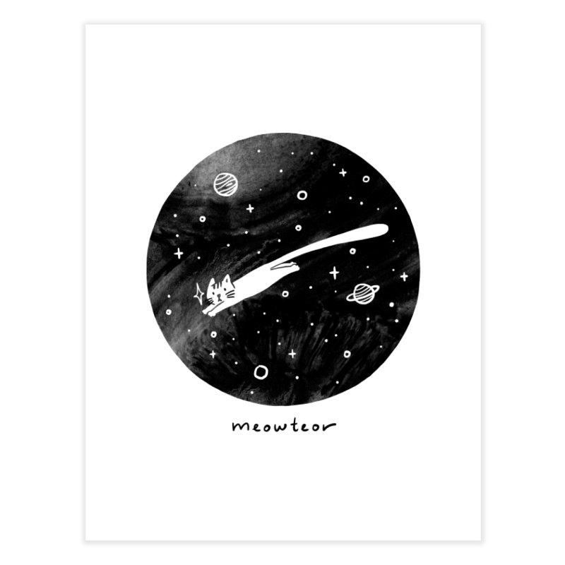 Meowteor Home Fine Art Print by ilovedoodle's Artist Shop