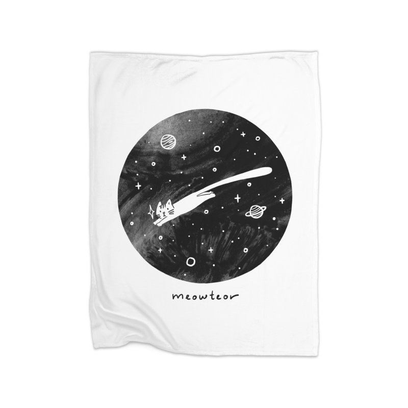 Meowteor Home Blanket by ilovedoodle's Artist Shop