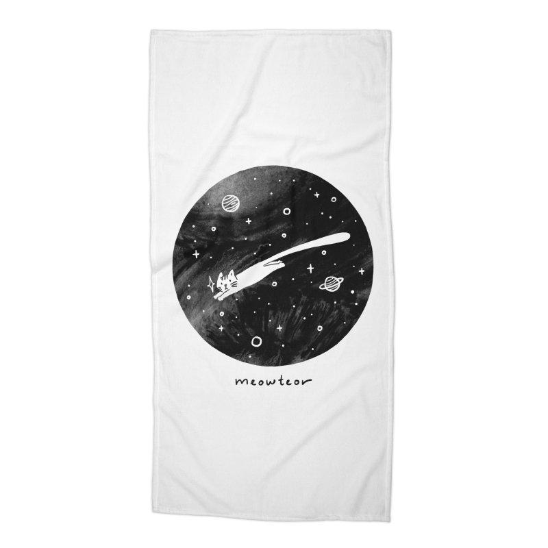 Meowteor Accessories Beach Towel by ilovedoodle's Artist Shop