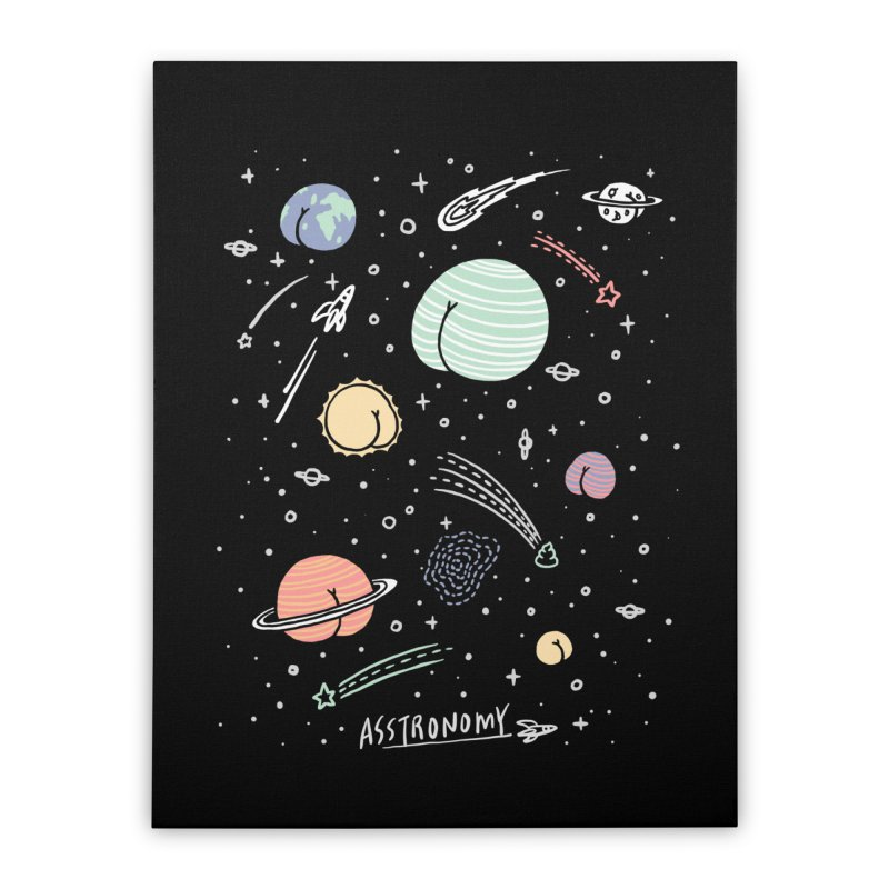 Asstronomy Home Stretched Canvas by ilovedoodle's Artist Shop