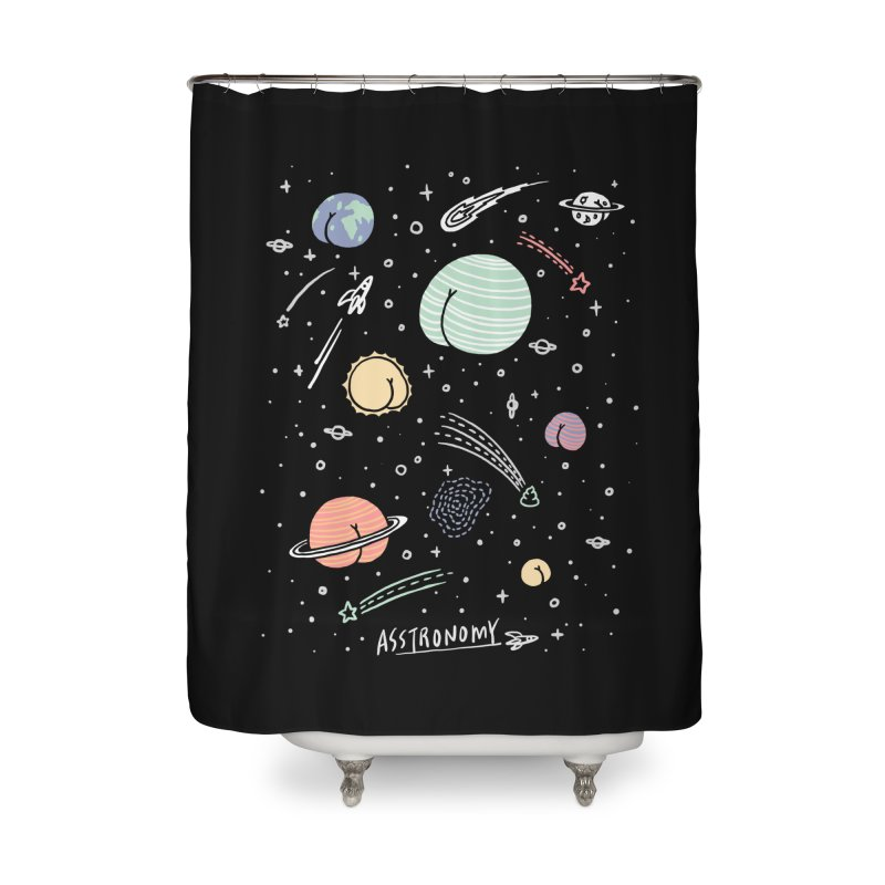 Asstronomy Home Shower Curtain by ilovedoodle's Artist Shop