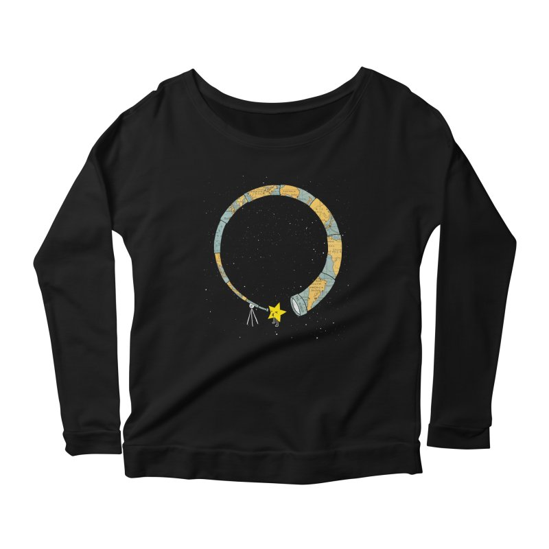 Discover Yourself Women's Longsleeve Scoopneck  by ilovedoodle's Artist Shop