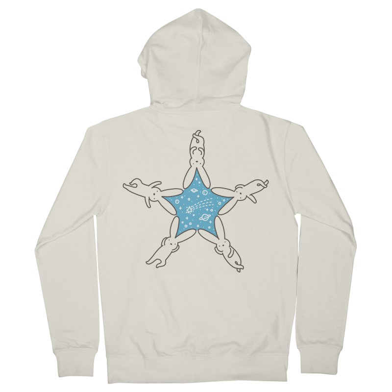 Rabbit Star Men's French Terry Zip-Up Hoody by ilovedoodle's Artist Shop
