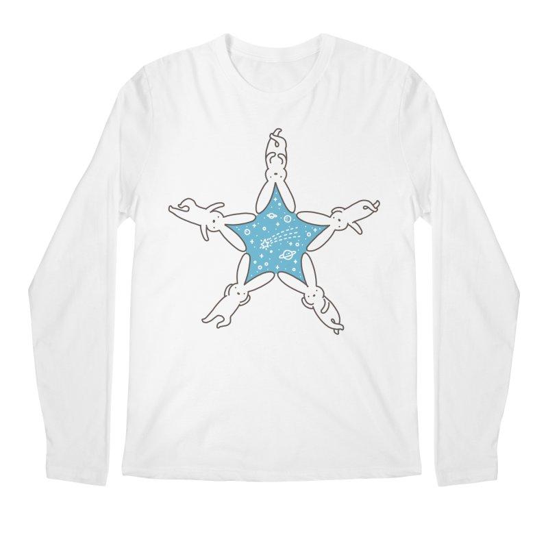 Rabbit Star Men's Regular Longsleeve T-Shirt by ilovedoodle's Artist Shop