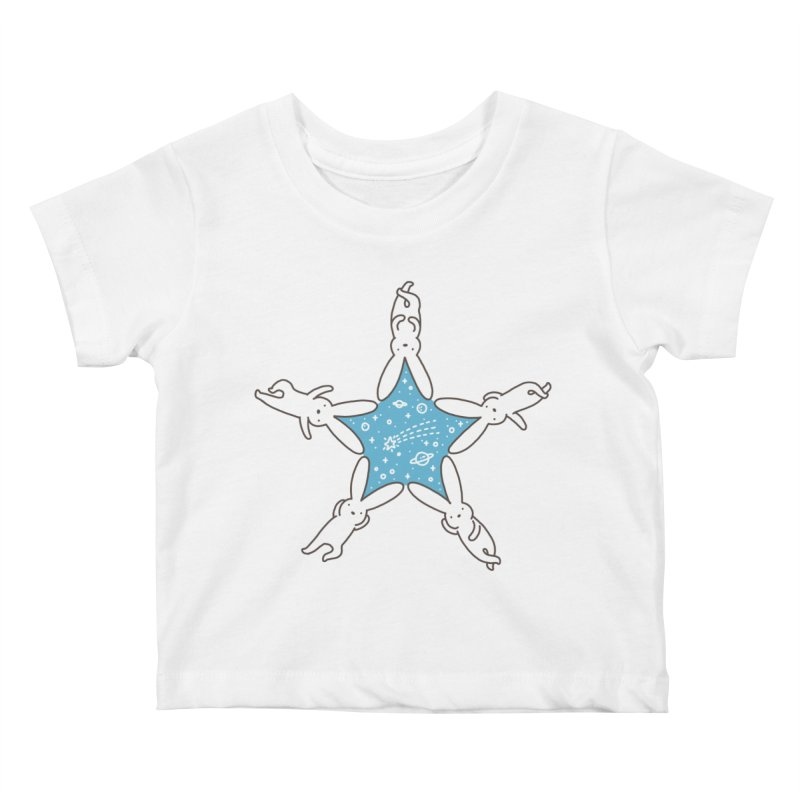 Rabbit Star Kids Baby T-Shirt by ilovedoodle's Artist Shop