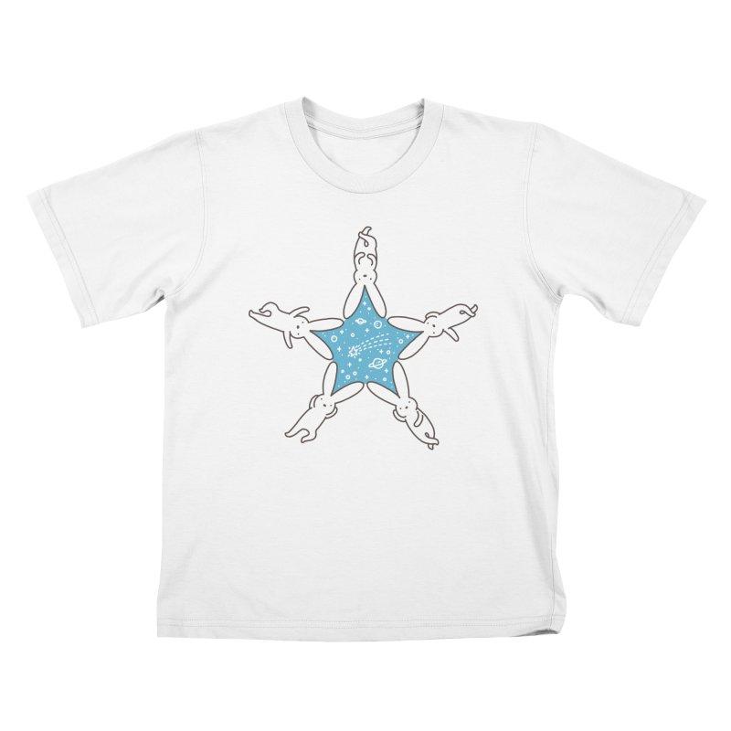 Rabbit Star Kids T-Shirt by ilovedoodle's Artist Shop