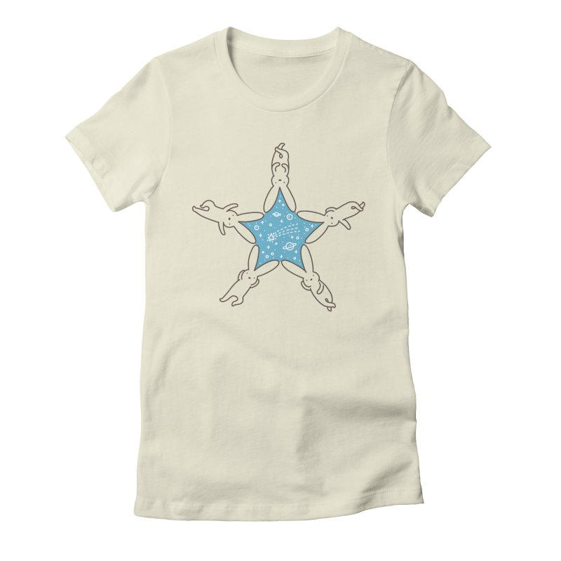 Rabbit Star Women's Fitted T-Shirt by ilovedoodle's Artist Shop