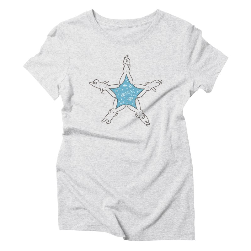 Rabbit Star Women's Triblend T-Shirt by ilovedoodle's Artist Shop