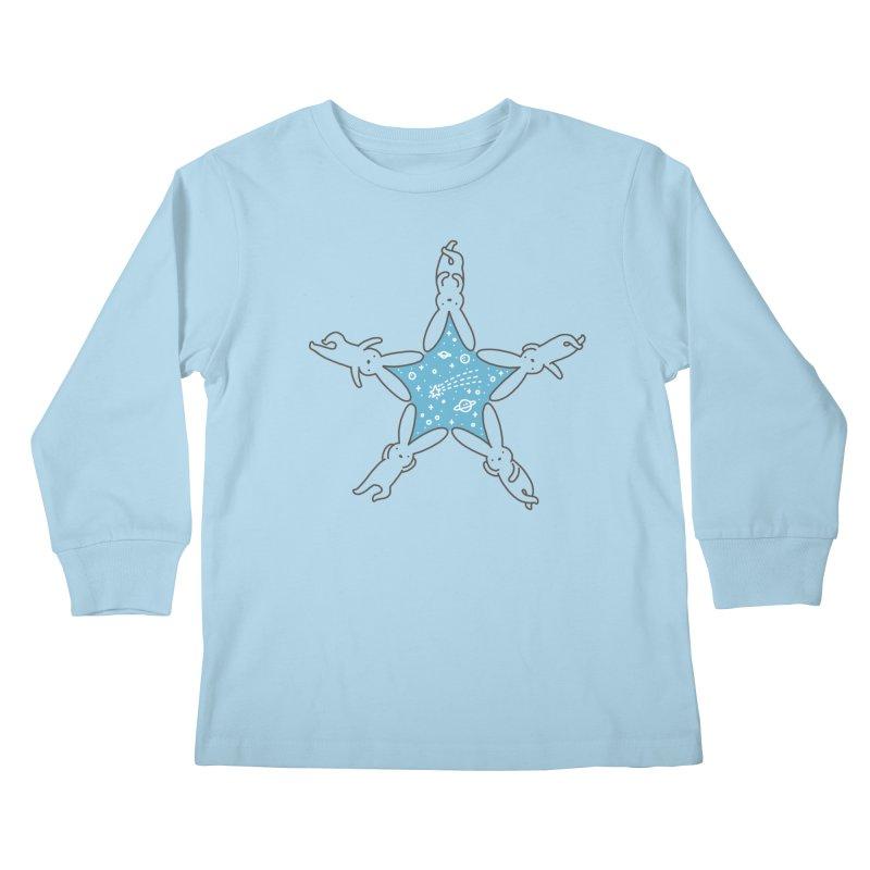 Rabbit Star Kids Longsleeve T-Shirt by ilovedoodle's Artist Shop