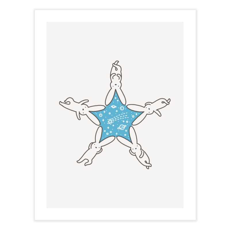 Rabbit Star Home Fine Art Print by ilovedoodle's Artist Shop