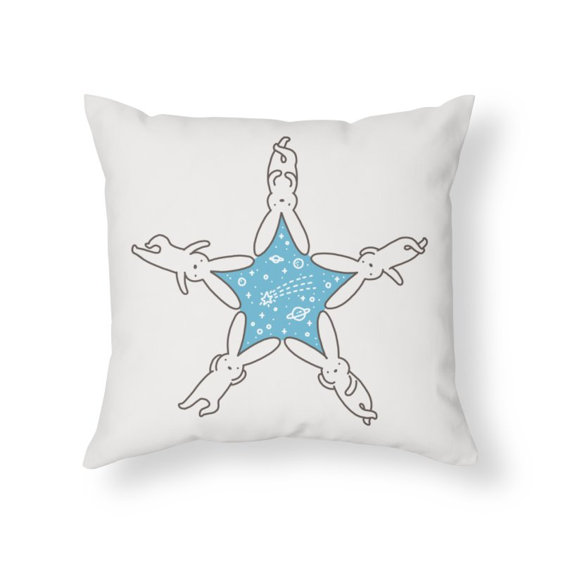 Rabbit Star Home Throw Pillow by ilovedoodle's Artist Shop