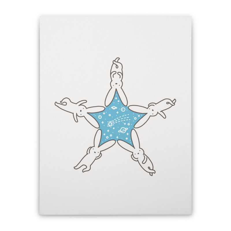 Rabbit Star Home Stretched Canvas by ilovedoodle's Artist Shop
