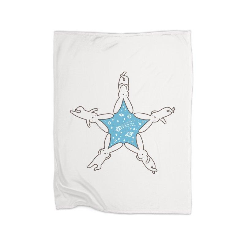 Rabbit Star Home Blanket by ilovedoodle's Artist Shop