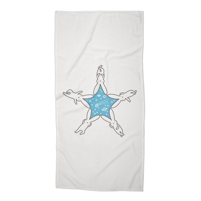 Rabbit Star Accessories Beach Towel by ilovedoodle's Artist Shop