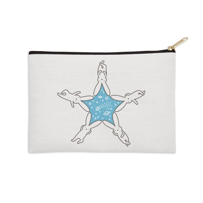 Rabbit Star Accessories Zip Pouch by ilovedoodle's Artist Shop