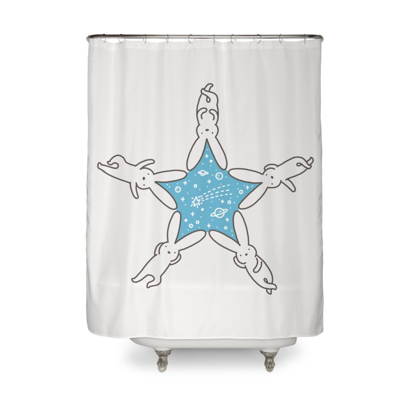 Rabbit Star Home Shower Curtain by ilovedoodle's Artist Shop