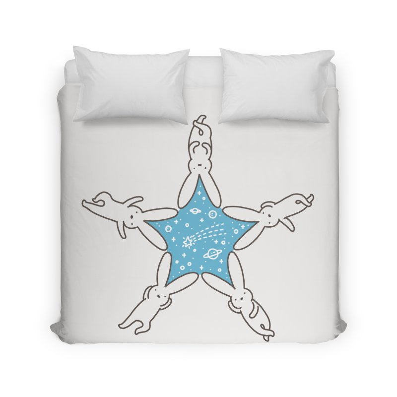 Rabbit Star Home Duvet by ilovedoodle's Artist Shop